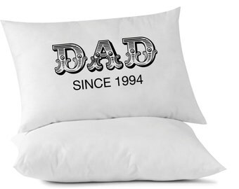 Custom DAD Since Date Pillowcase - Standard Size