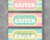 Happy Easter Candy Bar Wrappers – Printable Instant Download – Printable Candy Bar Wrappers – Easter Basket Gifts – Easter Party Favors