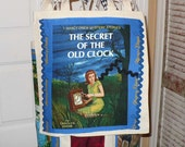 Reusable Shopping Bag, Tote Bag, Beach Bag, School Bag, Shopping Bag, Grocery Bag, Teacher's Bag, Nancy Drew, Secret of the Old Clock