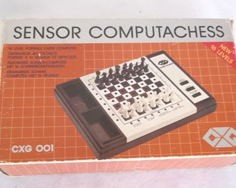 vintage sensor computer chess from the 80's 70's