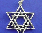 JEWISH STAR Of David Charm .925 Sterling Silver Pendant