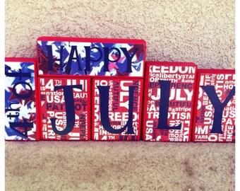 Patriotic blocks - Happy 4th of July
