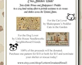 BUY TWO: Neighborhood Friends and Cats in the Garden Cross Stitch Charts by Little House Needleworks and Shakespeare's Peddler