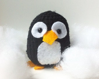 Crochet Penguin - handmade Amigurumi - decorative doll - march of the penguins - pingu- MADE TO ORDER