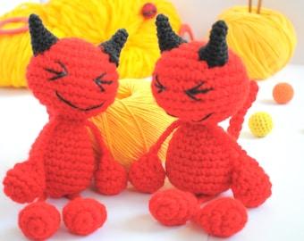 Crochet Amigurumi Devil - Crochet Devil - Devil  Doll - Crochet Devil - Amigurumi Animal - Crochet Devil - Soft toy