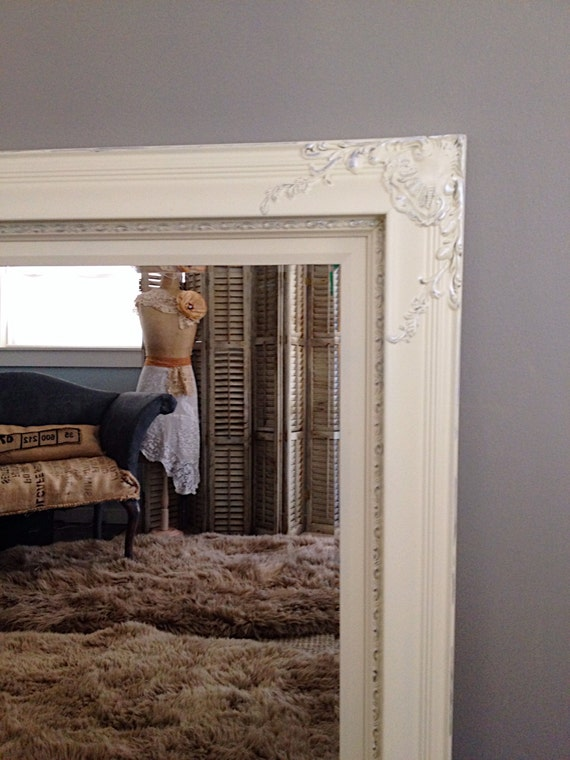 large baroque wall mirror for sale antique white by farmhousefare. Black Bedroom Furniture Sets. Home Design Ideas