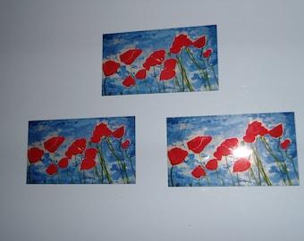 Poppies fridge magnet (pack of 2)