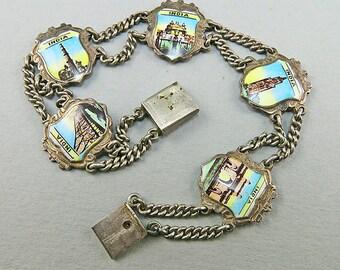 Vintage Silver Bracelet Enamel On Silver Jewelry Ethnic Jewelry Asian Jewelry Vintage Jewellery