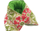 Heating Pad NECK SHOULDER Microwave WIDE Coverage Rice Flaxseed Cotton Candy Green