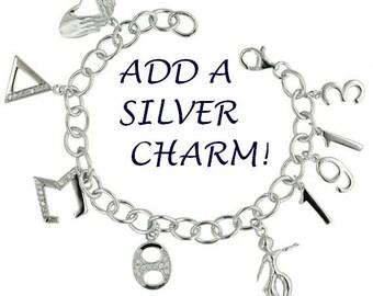 SILVER - ADD a CHARM! Silver Charm Add-On! (Charm List A)