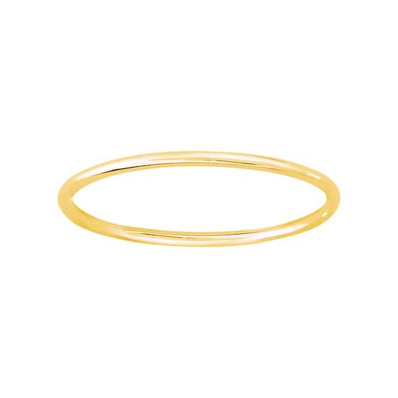 thin 18k 1 75mm wedding band stack ring by bertiebyalbertina