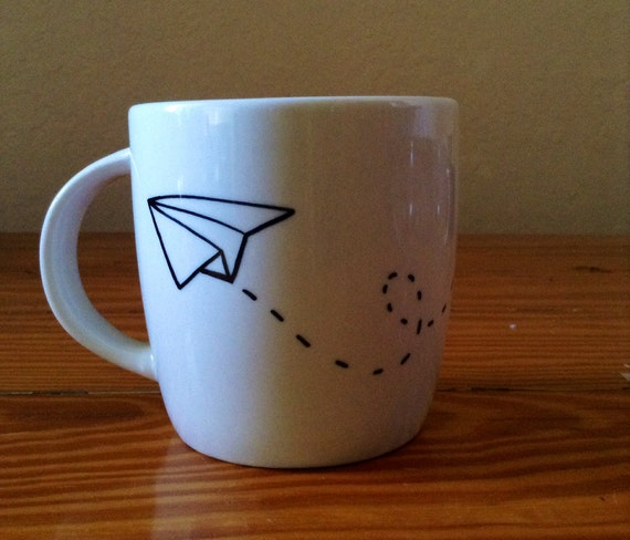 Paper Airplane Sharpie Mug