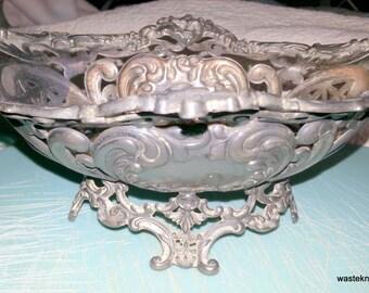 Vintage silver dish-retro
