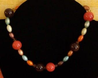 Multicolor Glass Necklace