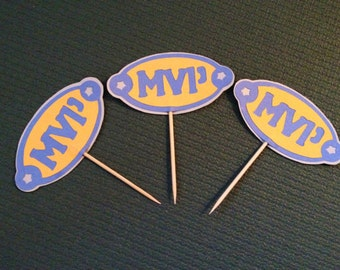 Sports - M V P Celebration Cupcake Toppers - Set of 12
