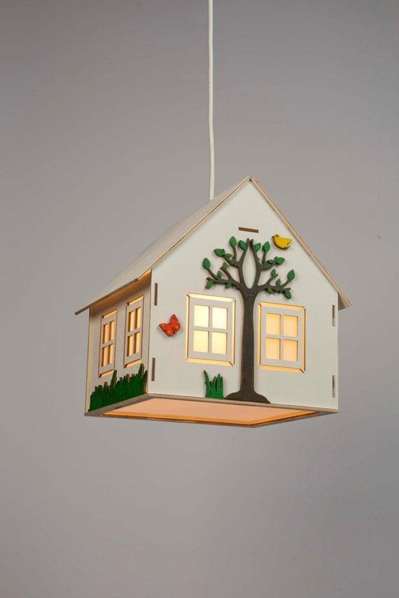 items similar to kids lamp children 39 s lamp lamp for baby hanging wooden lamp kids. Black Bedroom Furniture Sets. Home Design Ideas