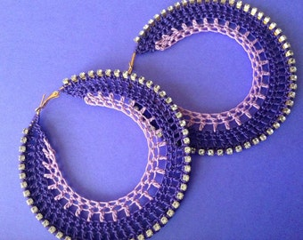 Amethyst Crochet Earrings