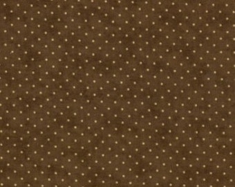 Essential Dots Fabric in Chocolate Brown from Moda