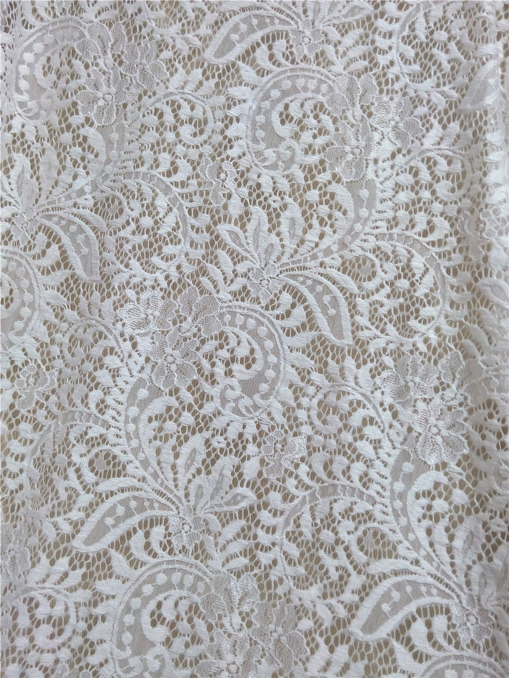 Wedding Lace Fabric Stretch Lace Floral Lace Fabric Lace