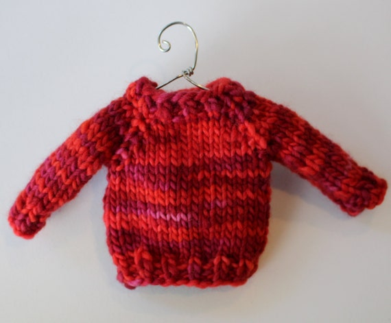 Knit Pattern Sweater Ornament : Knitting PATTERN / Mini Sweater Ornament / Christmas Decor
