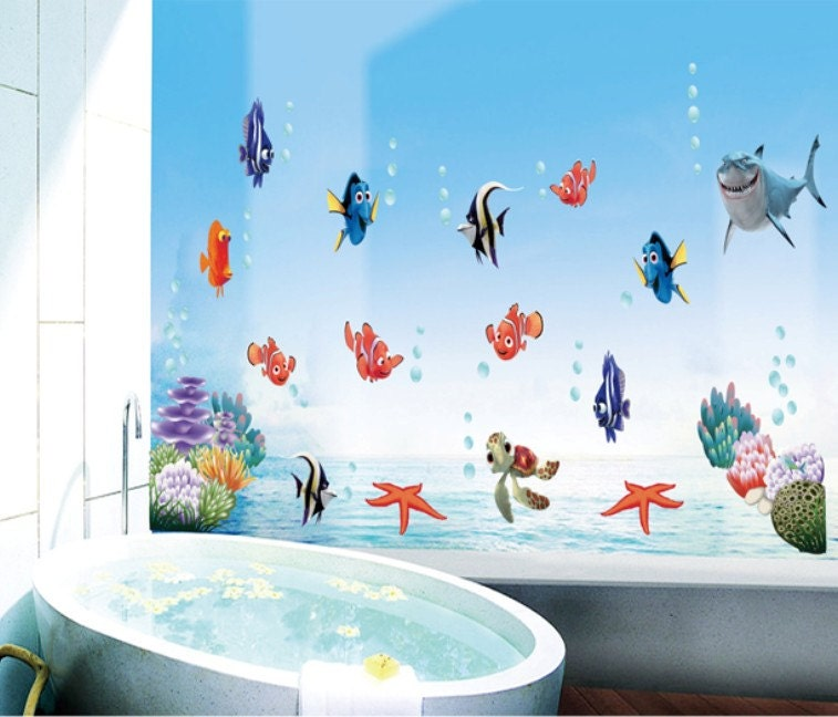 large finding nemo wall decals bedroom stickers by kornershack