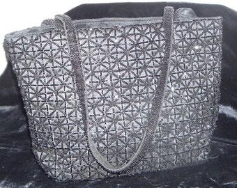 beaded evening handbag