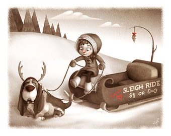 Reluctant Reindeer Print