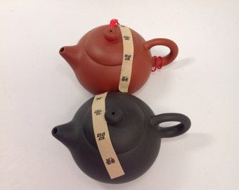 Yixing tea pot black and red Sixing tea pot 5oz capacity