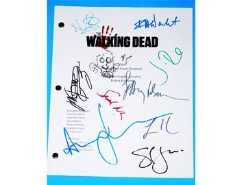 Walking Dead TV Script Screenplay Autographs Signed Andrew Lincoln, Steven Yeun, Frank Darabont, Robert Kirkman, Jon Bernthal, Emma Bell
