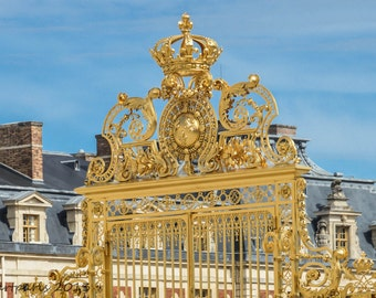 Paris Photography, Paris Photo, French Decor, Paris Decor, Verseille, Gate, Gold Gate, Gilded