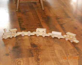 Handcrafted Wood toy Train