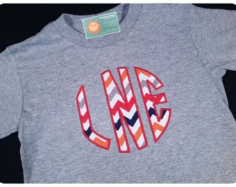 Boy's Shirt with Circle Style Chevron Monogram
