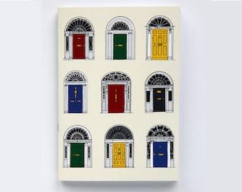 Irish Georgian Door Ways Notebook( primary colours)