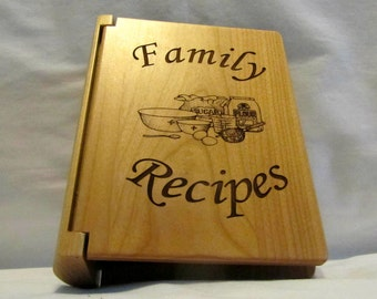 "Engraved Personalized Recipe Book ""Family Recipes"" - Small"