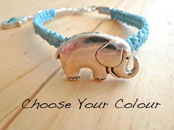 Elephant Hemp Bracelet. Hemp Anklet. Hippie Bracelet. Boho Jewelry. Natural Jewelry. Eco-Friendly. Hamsa Charm.