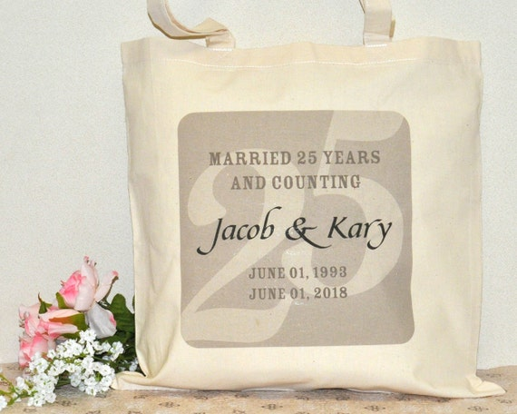 ... Anniversary Party Supplies, Wedding thank you gift bag favors, 25th