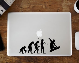 Evolution of Snowboarding MacBook Decal