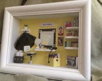 Hair Salon Miniature Box