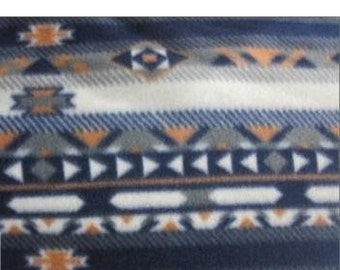 Aztec Indian Fleece Fabric By The Yard