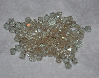 50 CANTALOUPE 4mm Bicone Beads - Article 5328, 5301 4mm, Cantaloupe Swarovski Beads