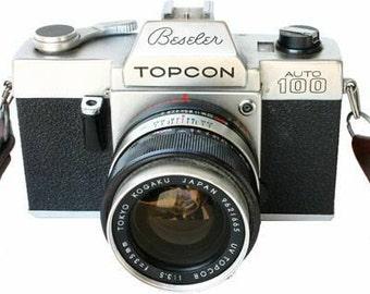 Beseler Topcon Auto 100 35MM Camera 53MM 1:2 LENS