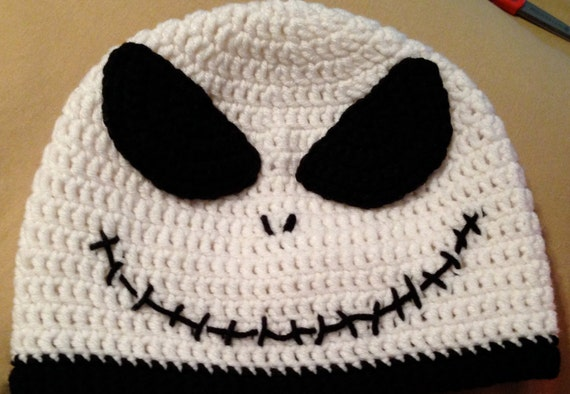 Crochet Pattern For Jack Skellington Hat : Items similar to Crochet Jack Skellington Hat on Etsy