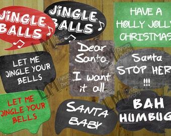 Naughty Christmas Photo Booth Props Christmas Props, Christmas Download, Christmas Party, Christmas Decor INSTANT DOWNLOAD DIY Printable