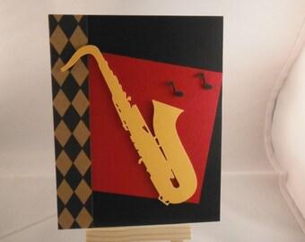 Saxophone card