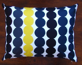 Black Yellow White Rasymatto pillow cushion cover case, Finland