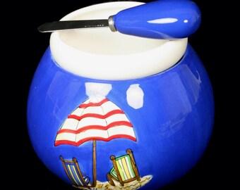 CLEARANCE SALE Dip Bowl Dip bowl and spreader Hot/Cold Dip Bowl Beach Dip Bowl Cheese Ball Dip Mix