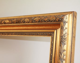 Large, Antique Gold Frame, Ornate Gold Frame, Gold Gilt Frame, Old world decor, Wood Frame, Art Nouveau frame, Arts and crafts frame