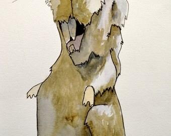 Rat # 12 Watercolor Painting