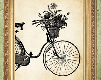 Bicycle Art Prints or Bicycle Dictionary Art Prints or Bicycle Sheet Music Art Prints