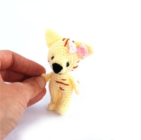 crochet cat little amigurumi cat miniature pet animal